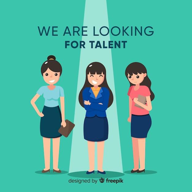 Femme bussiness cherche fond talent Vecteur gratuit