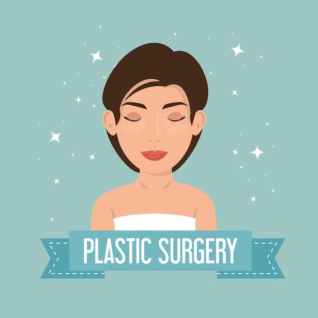 Femme en chirurgie plastique Vecteur gratuit