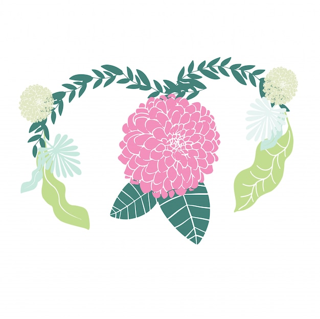 Femme avec le concept de santé de l'utérus sur fond rose Vecteur Premium