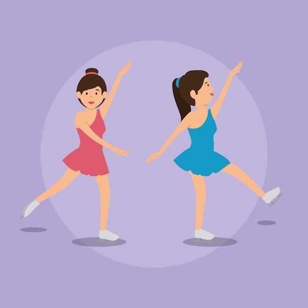 Femme danse classique Vecteur gratuit