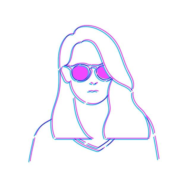 Femme doodle dessin sketch illustration vecteur Vecteur gratuit