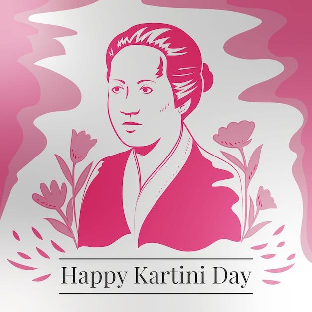 Femme Héros De La Journée Kartini Dans L'éducation Vecteur gratuit