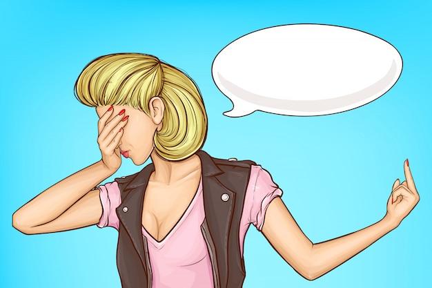 Femme renversant quelqu'un de la notion de vecteur de dessin animé Vecteur gratuit