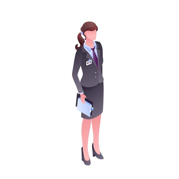 Femme en vêtements de bureau illustration du personnage isolé sans visage. Vecteur gratuit