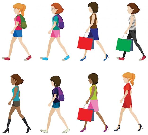 Femmes Sans Visage Vecteur gratuit