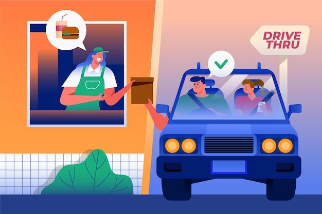 Fenêtre Au Volant Vecteur gratuit