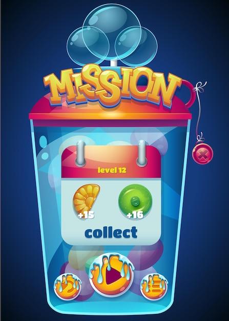 Fenêtre De Collecte De Mission Multicolore Vecteur Premium