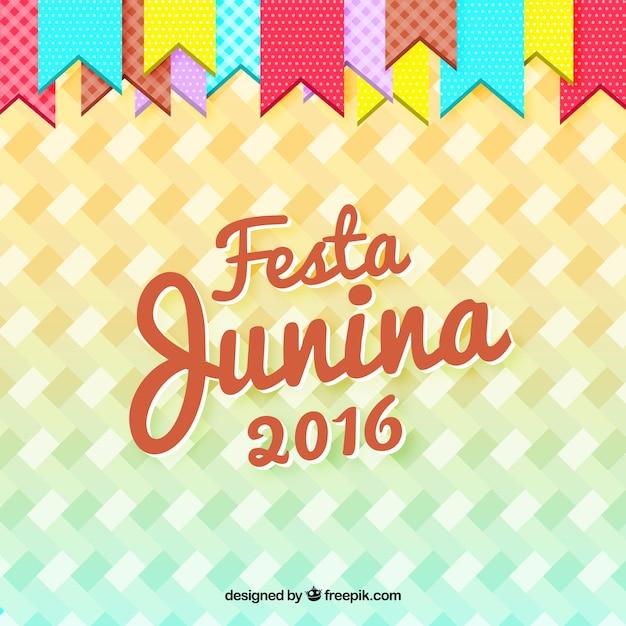 Festa junina 2016 fond Vecteur gratuit