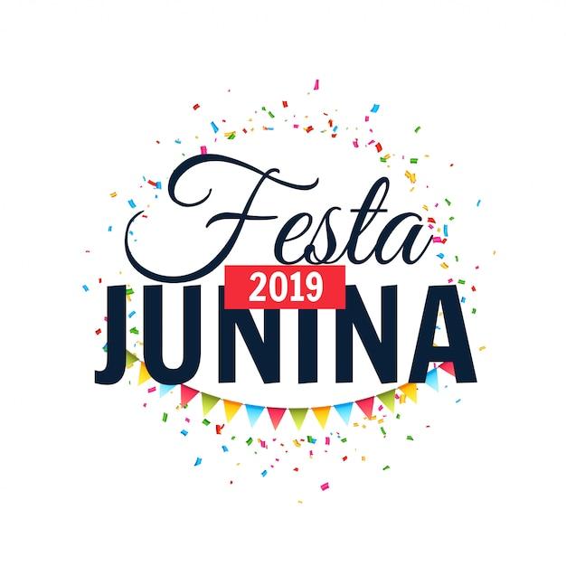 Festa junina 2019 design célébration de fond Vecteur gratuit
