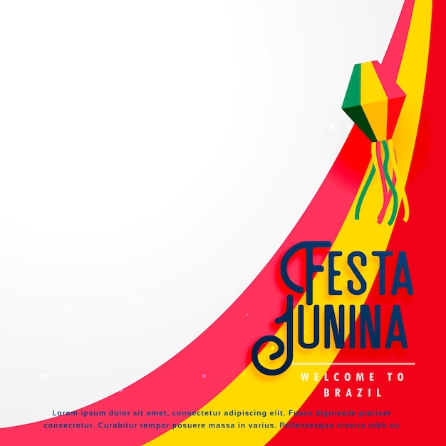 Festa Junina Background De Vacances Vecteur gratuit