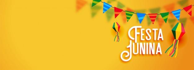 Festa junina bannière de vacances d'amérique latine Vecteur gratuit