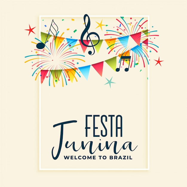 Festa junina fête fête fond Vecteur gratuit
