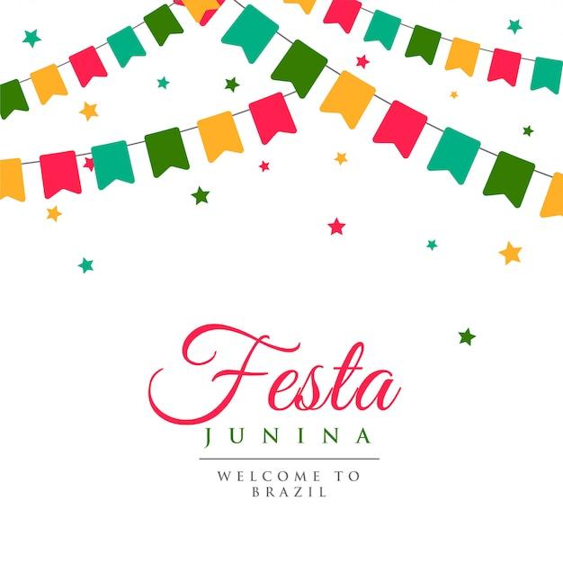 Festa junina fête fond de carnaval Vecteur gratuit