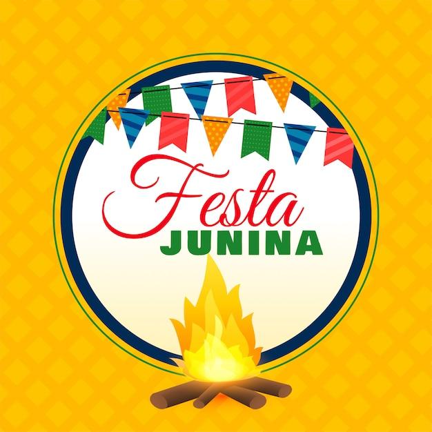 Festa junina feu de joie Vecteur gratuit
