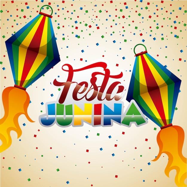 Festa junina party Vecteur Premium