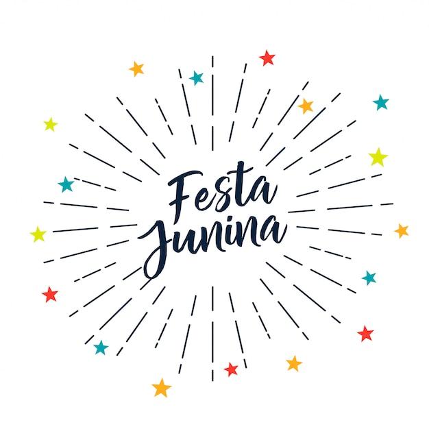 Festa junina stars décoration Vecteur gratuit