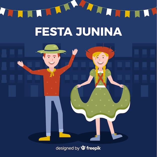 Festa junina Vecteur gratuit
