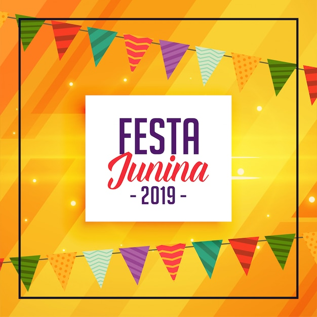 Festa traditionnel junina décoratif Vecteur gratuit