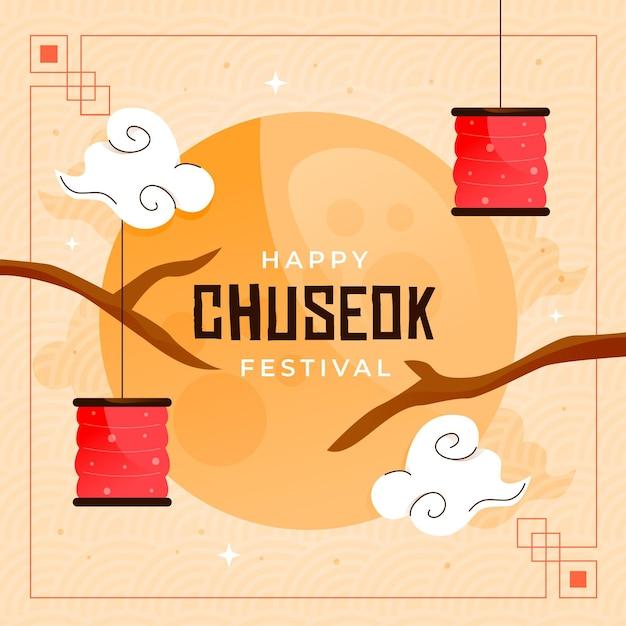 Festival De Chuseok Illustré Vecteur gratuit