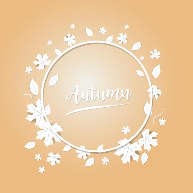 Festival des feuilles d'automne Vecteur Premium