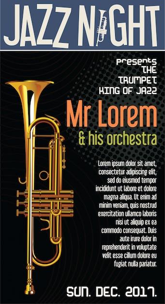 Festival de jazz Vecteur Premium