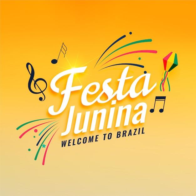 Festival de musique de festa junina Vecteur gratuit