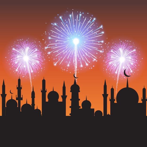 Fête De La Communauté Musulmane. Vecteur Premium