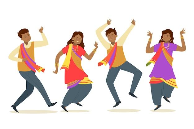 Fête Créative De Bollywood Dansant Vecteur gratuit