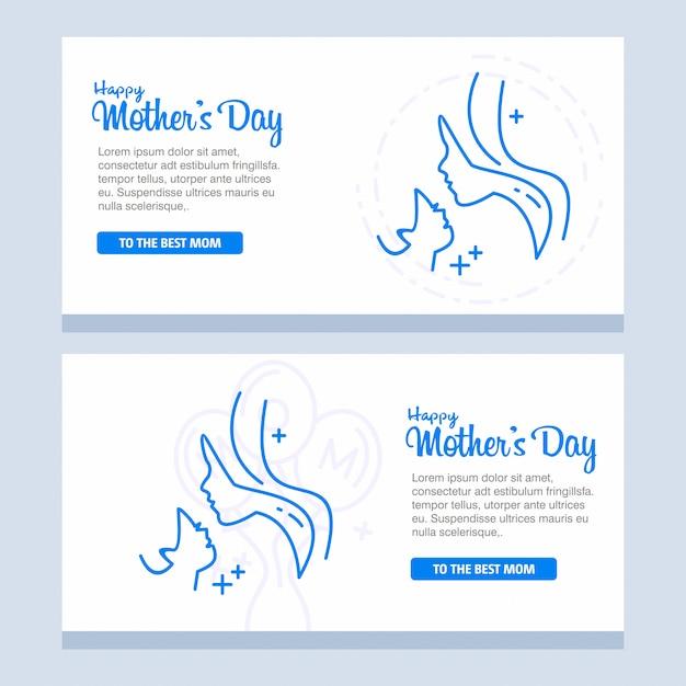 Fête des mères avec des fleurs de la fleur Vecteur gratuit