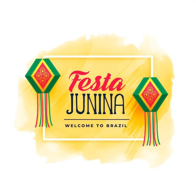 Fête du brésil à la junina Vecteur gratuit