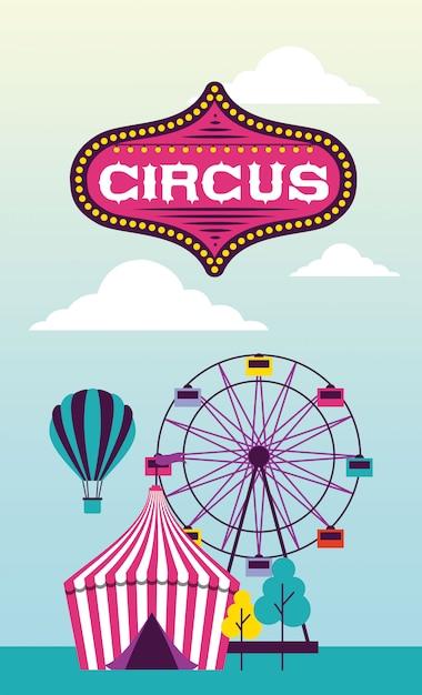 Fête Du Cirque Vecteur gratuit