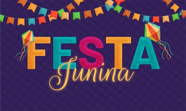 Fête du festival festa junina Vecteur Premium