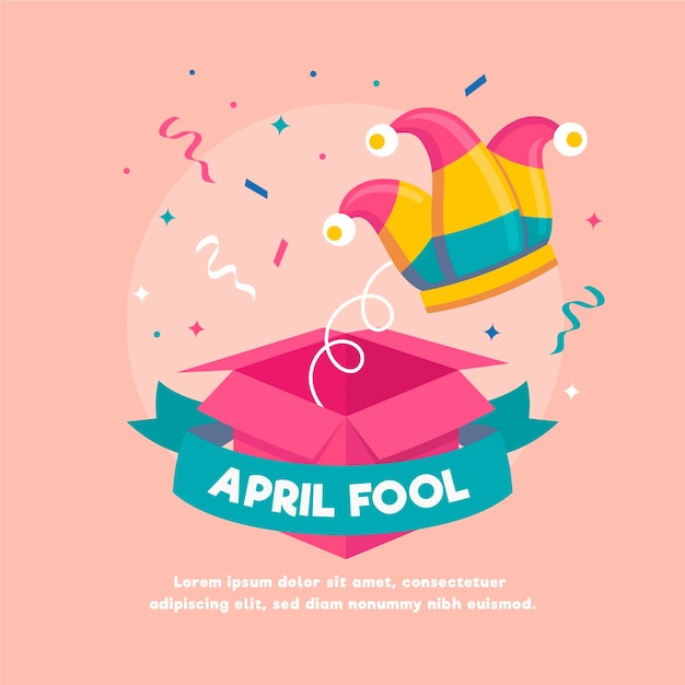 Fête Du Poisson D'avril Vecteur gratuit