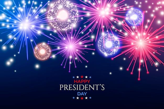 Fête Du Président Des Feux D'artifice Vecteur gratuit