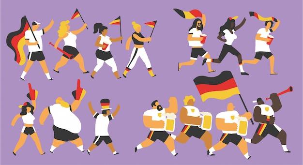 Fête de l'équipe nationale allemande Vecteur Premium