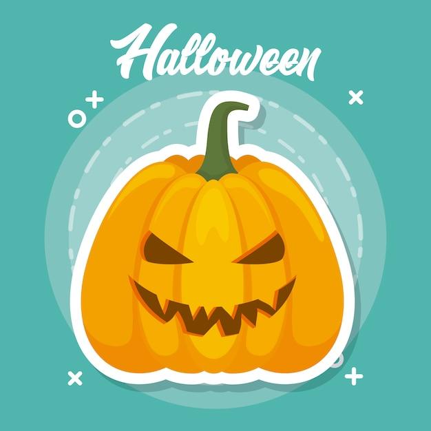 Fête d'halloween Vecteur gratuit