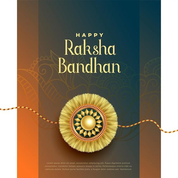 Fête hindoue de la carte de voeux raksha bandhan Vecteur gratuit