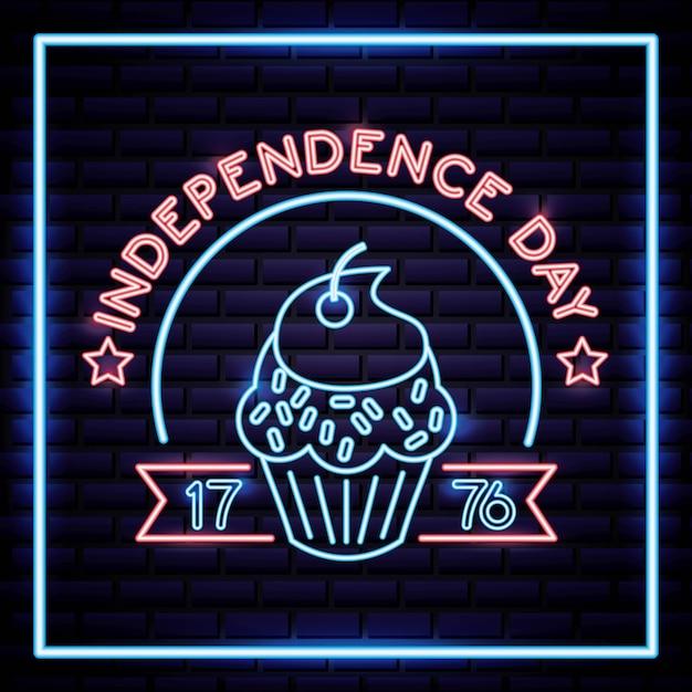 Fête de l'indépendance américaine Vecteur Premium