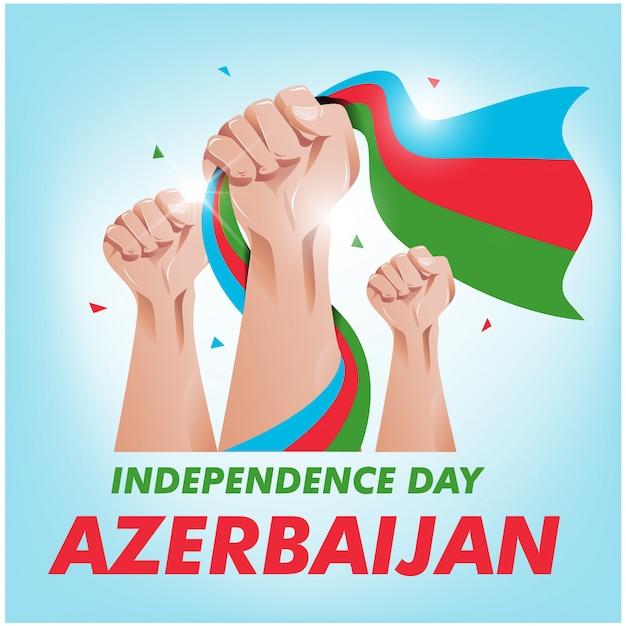 Fête de l'indépendance de l'azerbaïdjan Vecteur Premium