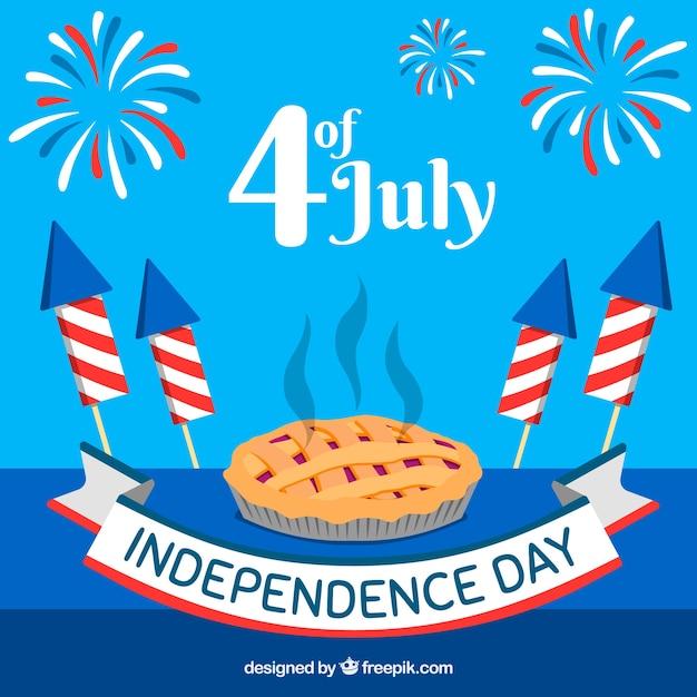 Fête de l'indépendance du 4 juillet en style plat Vecteur gratuit