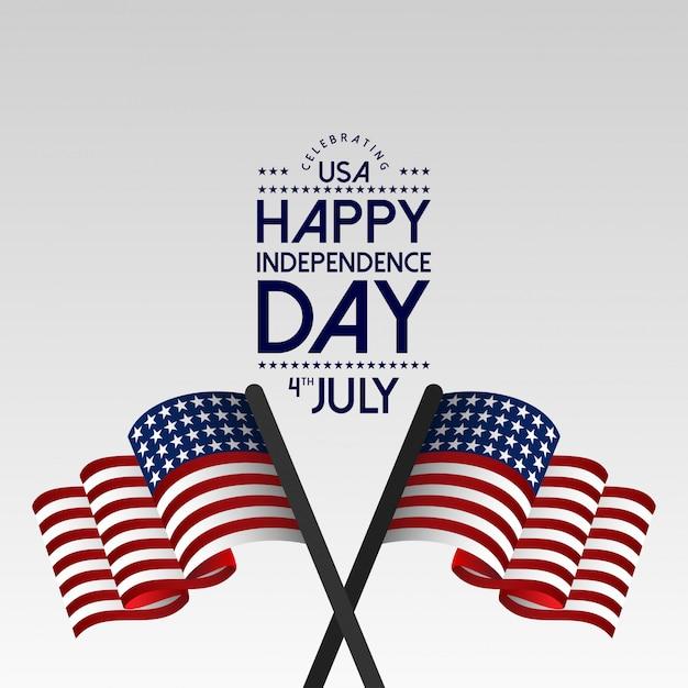 Fête de l'indépendance des états-unis le 4 juillet Vecteur gratuit