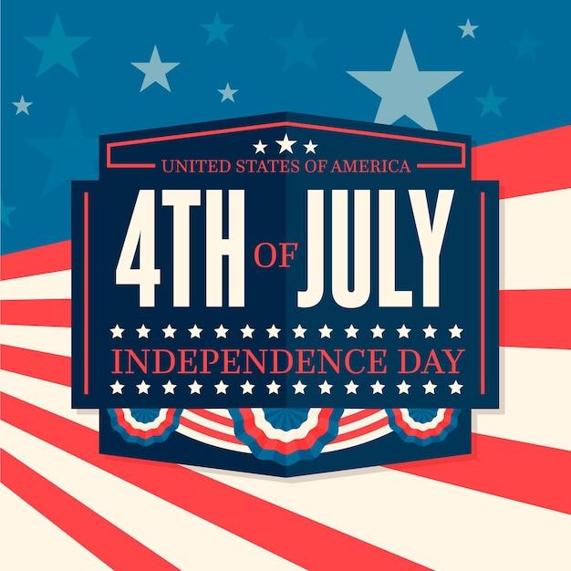 Fête De L'indépendance Avec Des étoiles Vecteur gratuit
