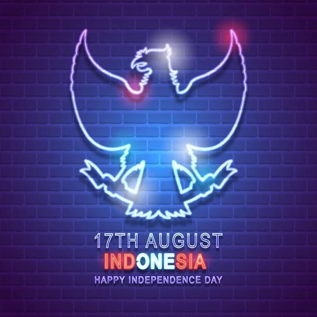 Fête de l'indépendance indonésie Vecteur Premium