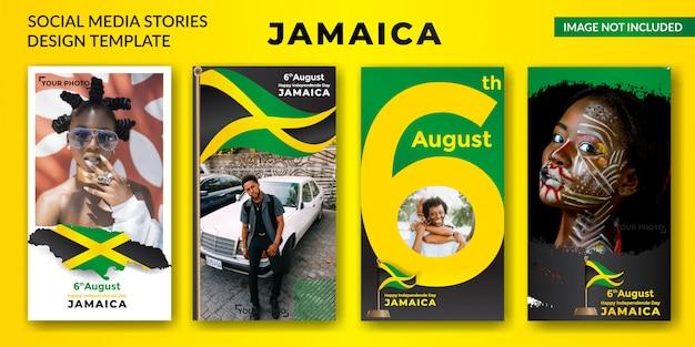 Fête de l'indépendance de la jamaïque Vecteur Premium