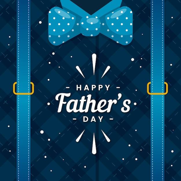 Fête Des Pères Heureux Avec Noeud Papillon Vecteur Premium