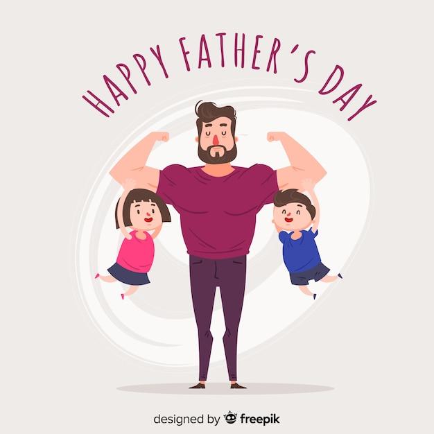 Fête Des Pères Vecteur gratuit
