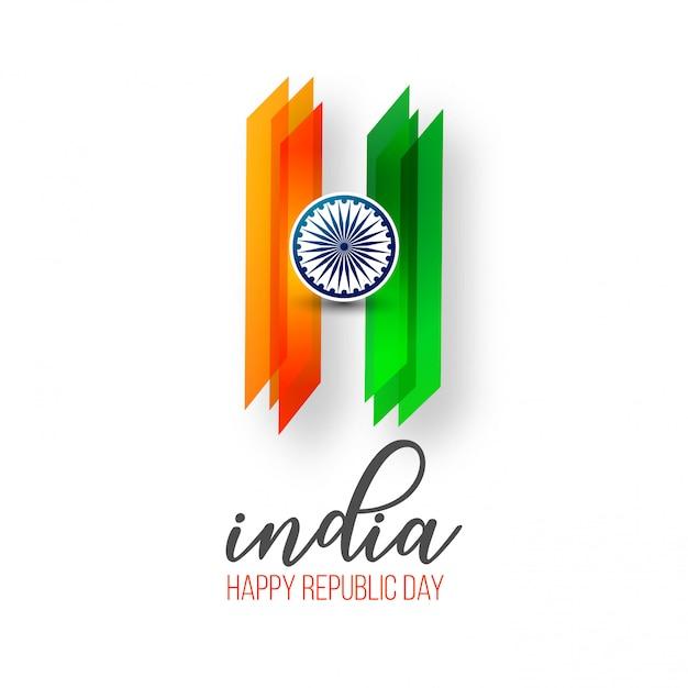 Fête de la république indienne 26 janvier Vecteur Premium