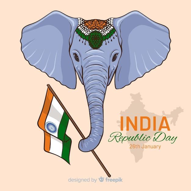 Fête de la république indienne Vecteur gratuit