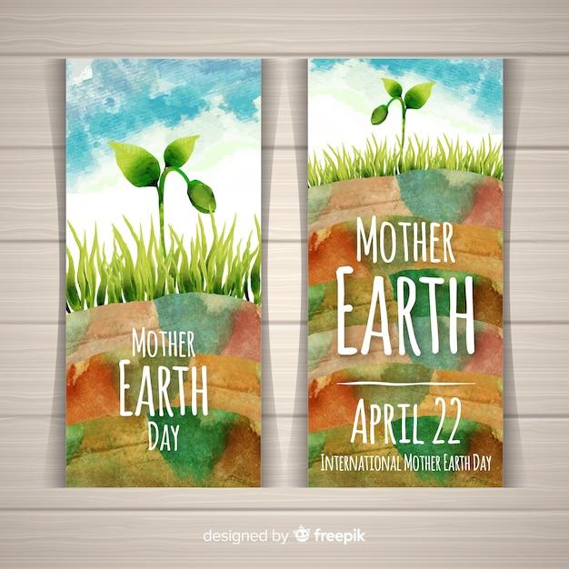 Fête de la terre mère Vecteur gratuit