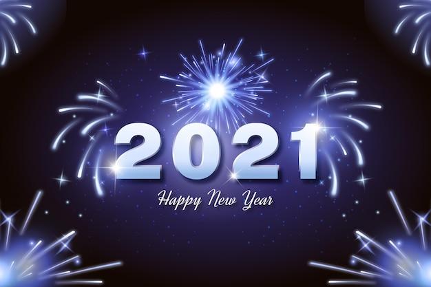 Feu D'artifice Nouvel An 2021 Vecteur gratuit
